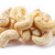 Cashew on a white background