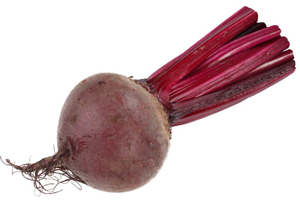 Image of beet on white background. The file contains a path to cut.